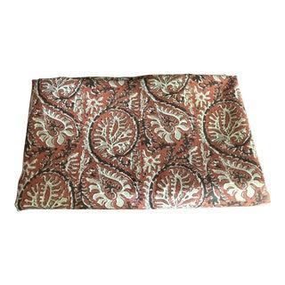 Peter Fasano Block Print Shangri La Paisley Fabric For Sale