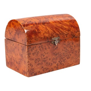 Antique French Domed Birdseye Maple Box For Sale