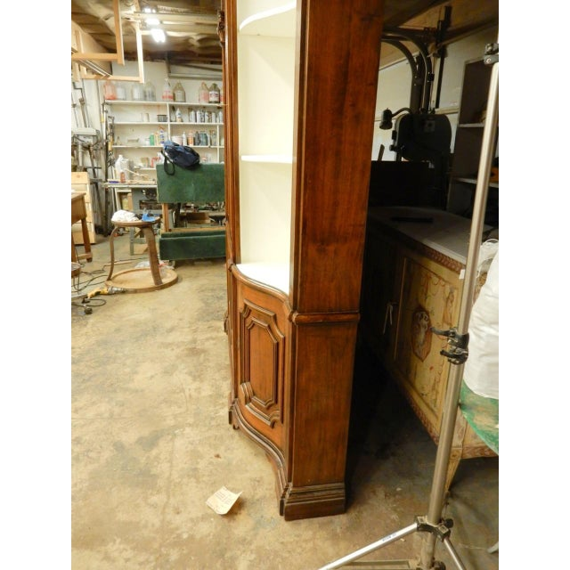 Italian Narrow Walnut 19th C Italian Breakfront For Sale - Image 3 of 8