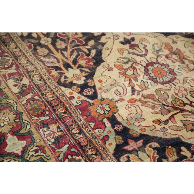 "Traditional Antique Lavar Kerman Carpet - 8'6"" X 11'10"" For Sale - Image 3 of 10"