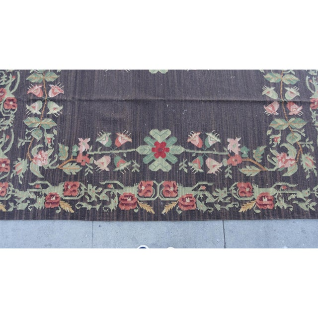 Bessarabian Floral Kilim Area Rug - 8' X 5' - Image 4 of 9