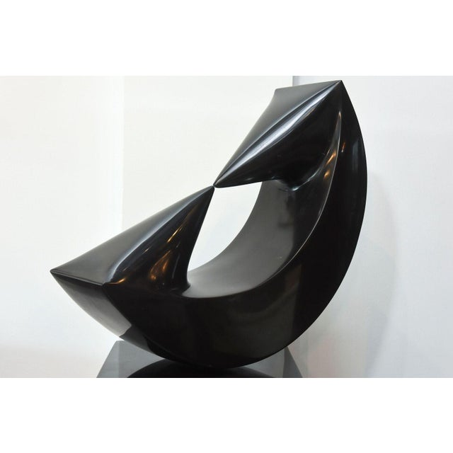 Black Marble Sculpture on Stand by Masami Kodama, Japan, 1960 For Sale - Image 8 of 11