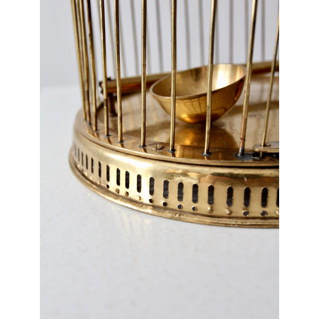 Vintage Brass Bird Cage For Sale - Image 5 of 10