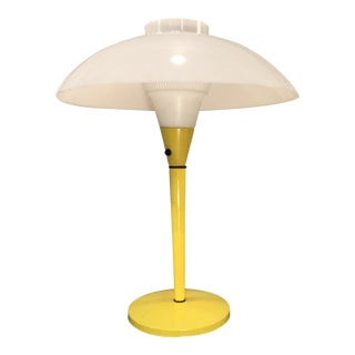 1960s Yellow Mid-Century Modern UFO Lamp For Sale