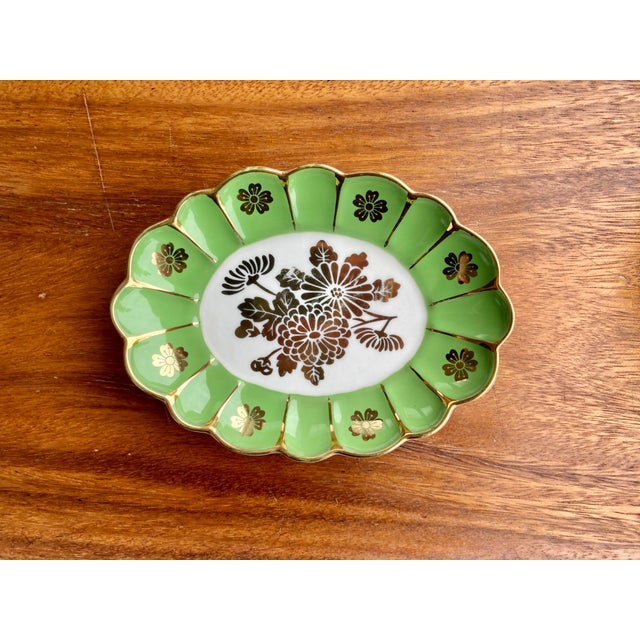 Vintage Green Flower Dish For Sale In Seattle - Image 6 of 6