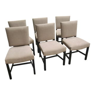 Henredon Furniture Mark D. Sikes Sheffield Upholstered Side Chairs - Set of 6 For Sale