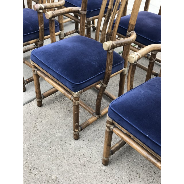 Monumental McGuire Dining Set - 9 Pieces For Sale In Dallas - Image 6 of 13
