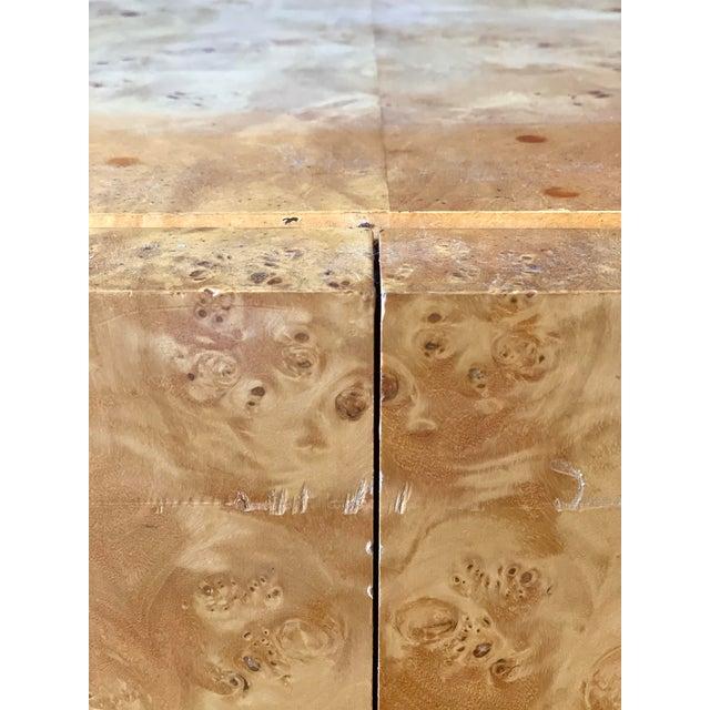 Vintage Milo Baughman Burl Wood Credenza For Sale - Image 11 of 13