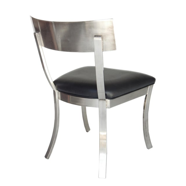 """Animal Skin """"Klismos Style"""" Dining Chairs For Sale - Image 7 of 9"""