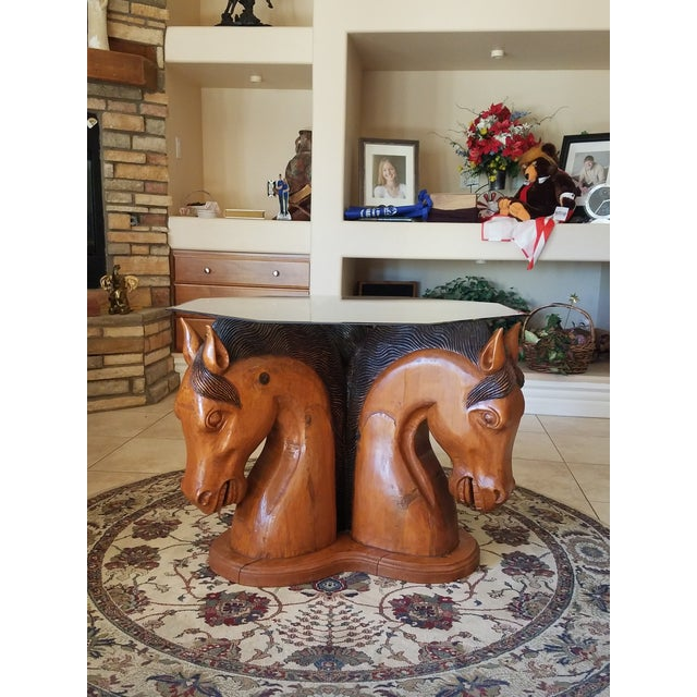 Hand Carved Horse Head Coffee Table For Sale - Image 13 of 13