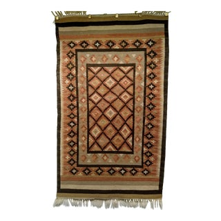 Vintage Handmade Navajo Tribal Rug - 2′11″ × 5′4″ For Sale