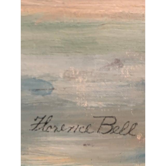 Mid-Century Modern Industrial Port Ballard Harbor Scene Florence Bell Landscape Painting For Sale - Image 3 of 4
