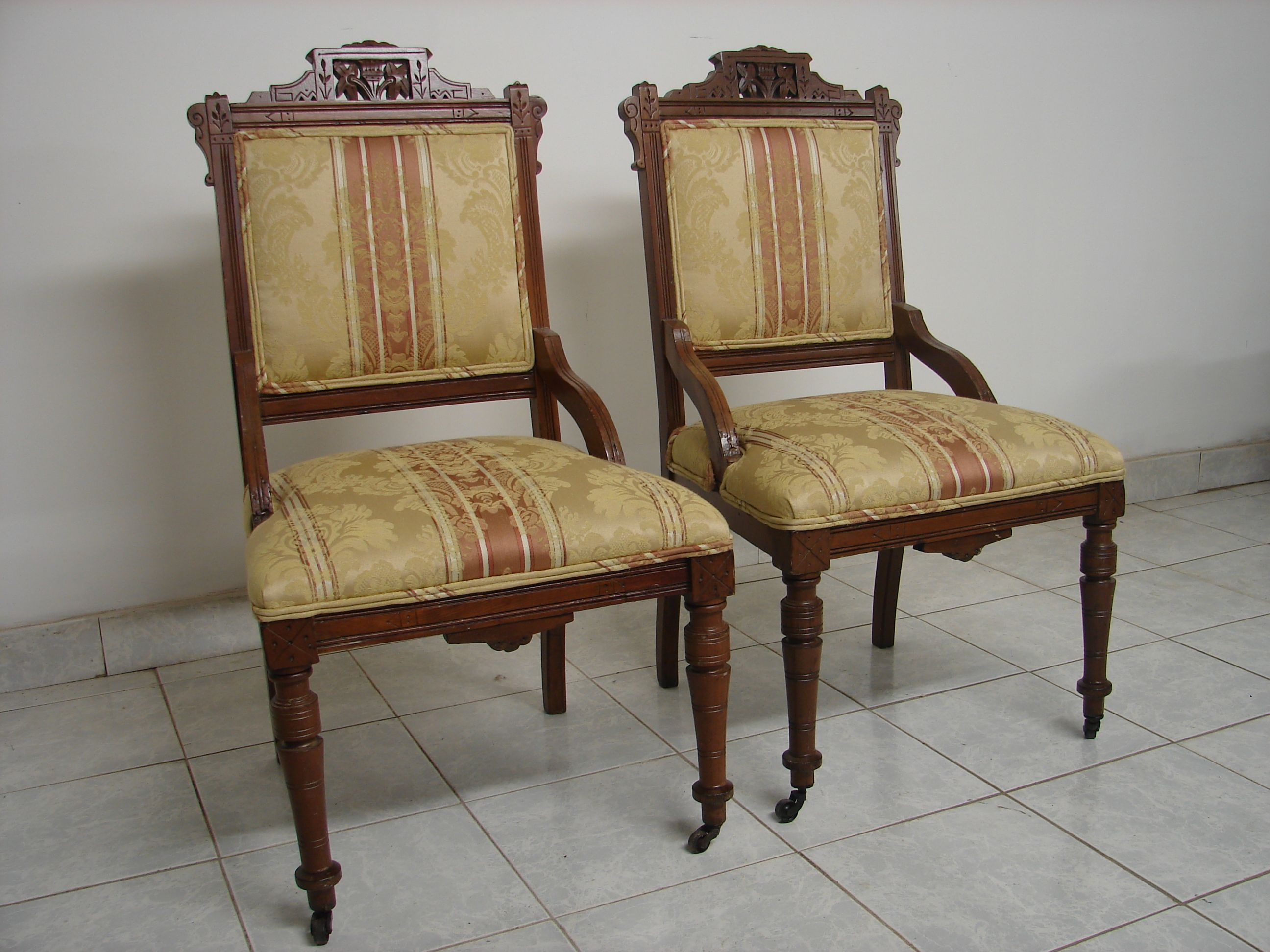 A Beautiful Pair Of Original Antique Eastlake Chairs. The Chairs Are In  Great Condition With