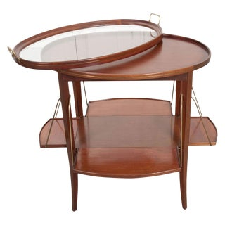 French Early 20th Century Oval Mahogany Tea Table For Sale