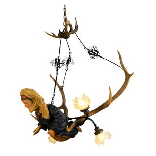 Mid 19th Century Black Forest Chandelier For Sale
