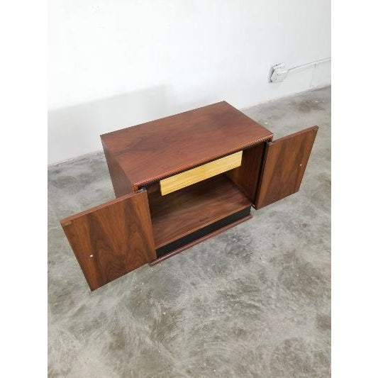 Mid-Century Brown Saltman Night Stand For Sale In Los Angeles - Image 6 of 13