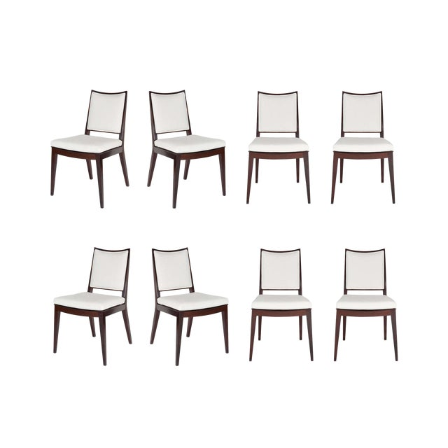 Metal Set of 8 Frame Back Dining Chairs For Sale - Image 7 of 7
