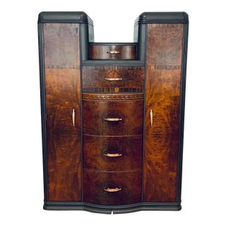 Vintage Art Deco Gentleman's Chest For Sale