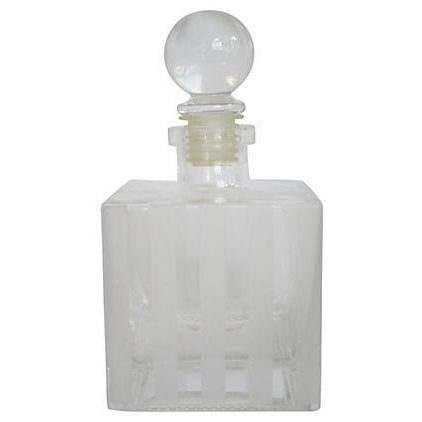 Art Deco Striped Glass Decanter - Image 1 of 2