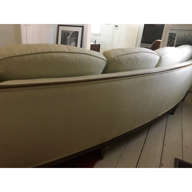 Thomasville Mid-Century Modern Curved Sofa For Sale - Image 5 of 9