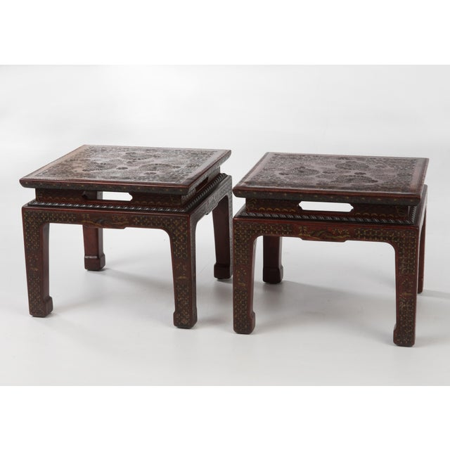 John Widdicomb 1950s Chinese John Widdicomb Side Tables - a Pair For Sale - Image 4 of 12