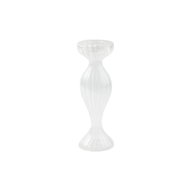 Kenneth Ludwig Chicago Vietri Ottico Bud Vase/Candleholder from Kenneth Ludwig Home - a Pair For Sale - Image 4 of 4