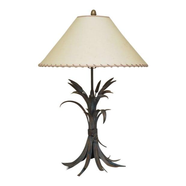 Decorator Metal Wheat Sheaf Design Table Lamp For Sale