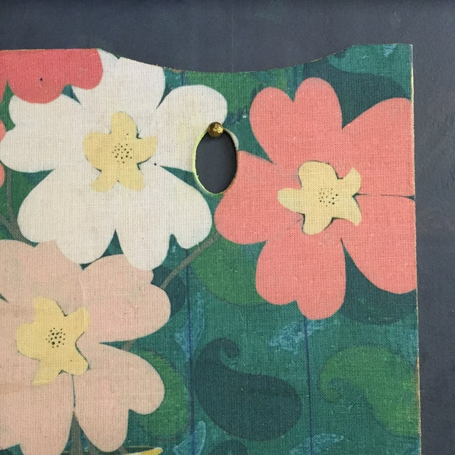 Vintage Painters Pallete with Floral Applique For Sale In San Francisco - Image 6 of 7