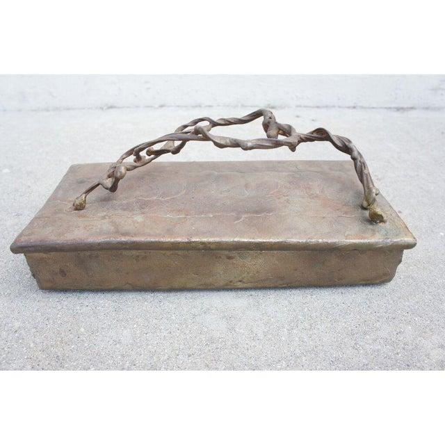Brutalist Brutalist Bronze Box For Sale - Image 3 of 5