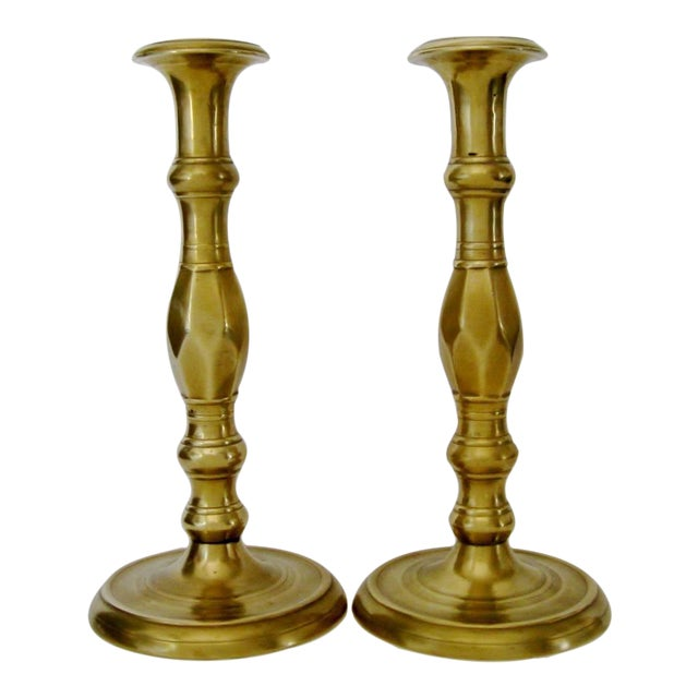 Vintage Brass Candlesticks - a Pair - Image 1 of 6