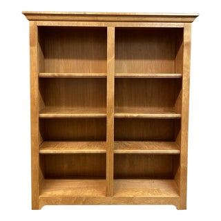 Stuart David Furniture Solid Wood Bookshelf + Adjustable Shelves For Sale
