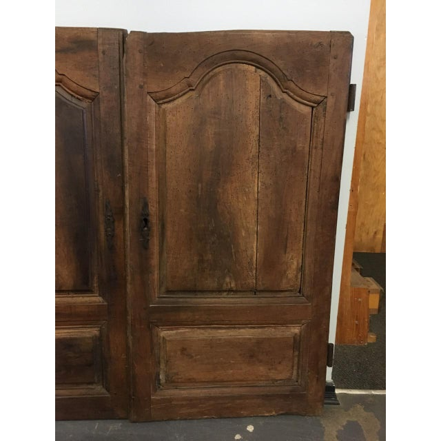 Late 18th Century Late 18th Century Walnut French Cabinet Doors- a Pair For Sale - Image 5 of 11