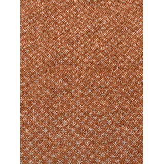 Remnant of Quadrille Balinese Star in Orange- 1 1/3 Yards For Sale