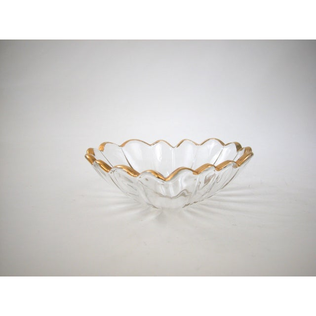 Glass and Gold Heart Dish - Image 3 of 9