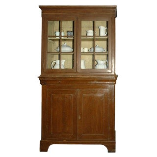 Louis Phillippe Country Cupboard For Sale