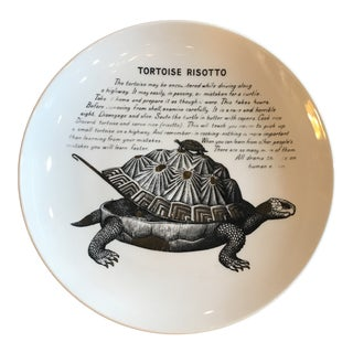 Piero Fornasetti Tortoise Risotto Recipe Plate for Fleming Joffe For Sale