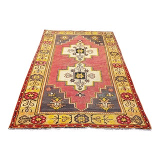 1970s Distressed Turkish Anatolian Rug-3′9″ × 7′3″ For Sale