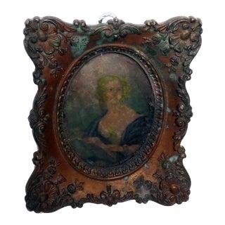 Antique Framed Portrait of Woman
