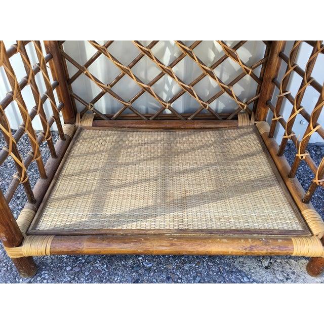 Rattan & Wicker Boho Chic Shelf Unit For Sale - Image 7 of 10