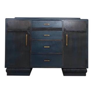 1920s Art Deco English Oak Buffet For Sale