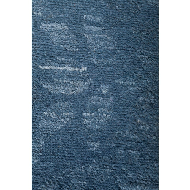 """Blue Over-Dyed Hand-Knotted Rug - 5'2"""" X 6'10"""" - Image 3 of 3"""