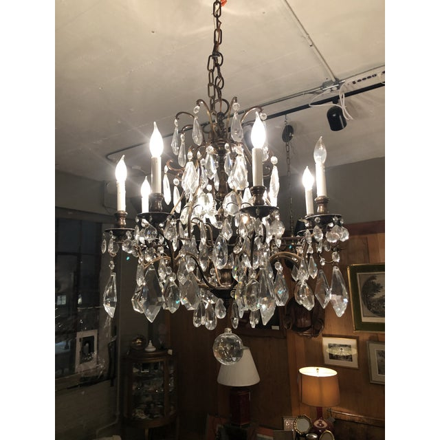 Fabulous Vintage Eight Light Lead Crystal Chandelier. Truly beautiful with extraordinary crystals in various shapes and...