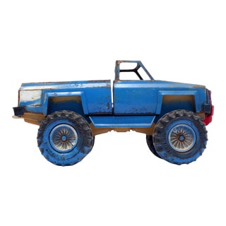 Vintage Blue Toy Monster Truck Photograph