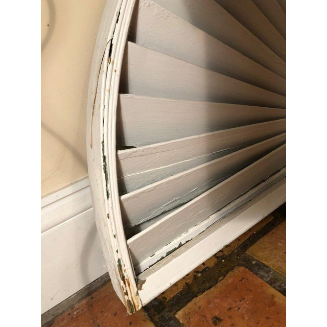 Antique Architectural Demilune Sunburst Window Fragment For Sale In New York - Image 6 of 13
