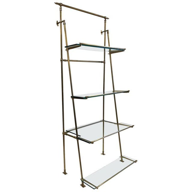 Gold 1950s French Bronze Wall Mounted and Freestanding Etagere For Sale - Image 8 of 8