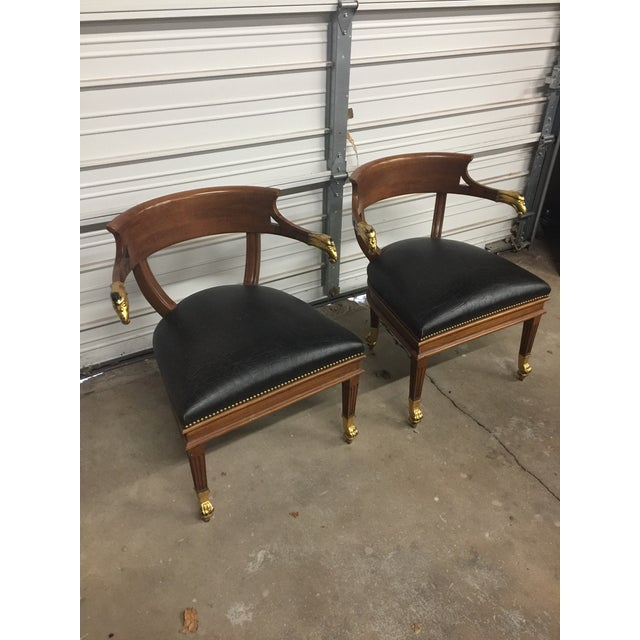 William Switzer Federalist Style Eagle Arm Armchairs - a Pair - Image 3 of 10