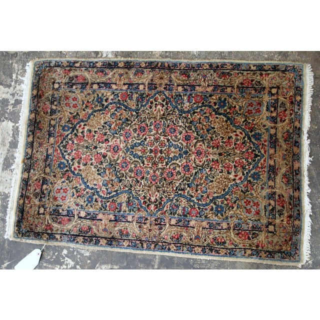 1920s, Handmade Antique Persian Kerman Rug 2.1' X 3.2' - 1b704 For Sale - Image 4 of 7