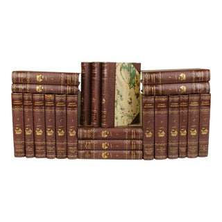Antique Leather-Bound Books - Set of 22