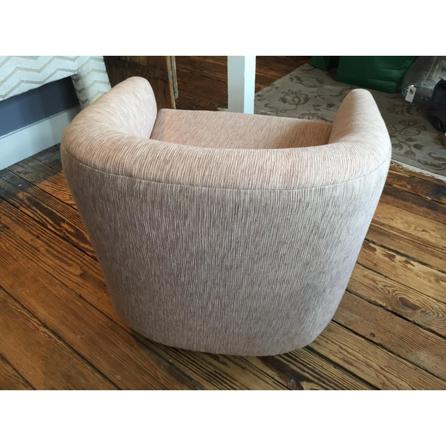 Reupholstered Milo Baughman Swivel Chair - Image 5 of 6