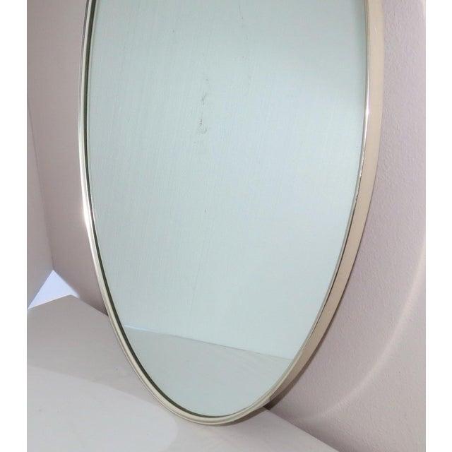 Art Deco Mid-Century Modern Turner Mfg. Oval Chrome Mirror For Sale - Image 3 of 13